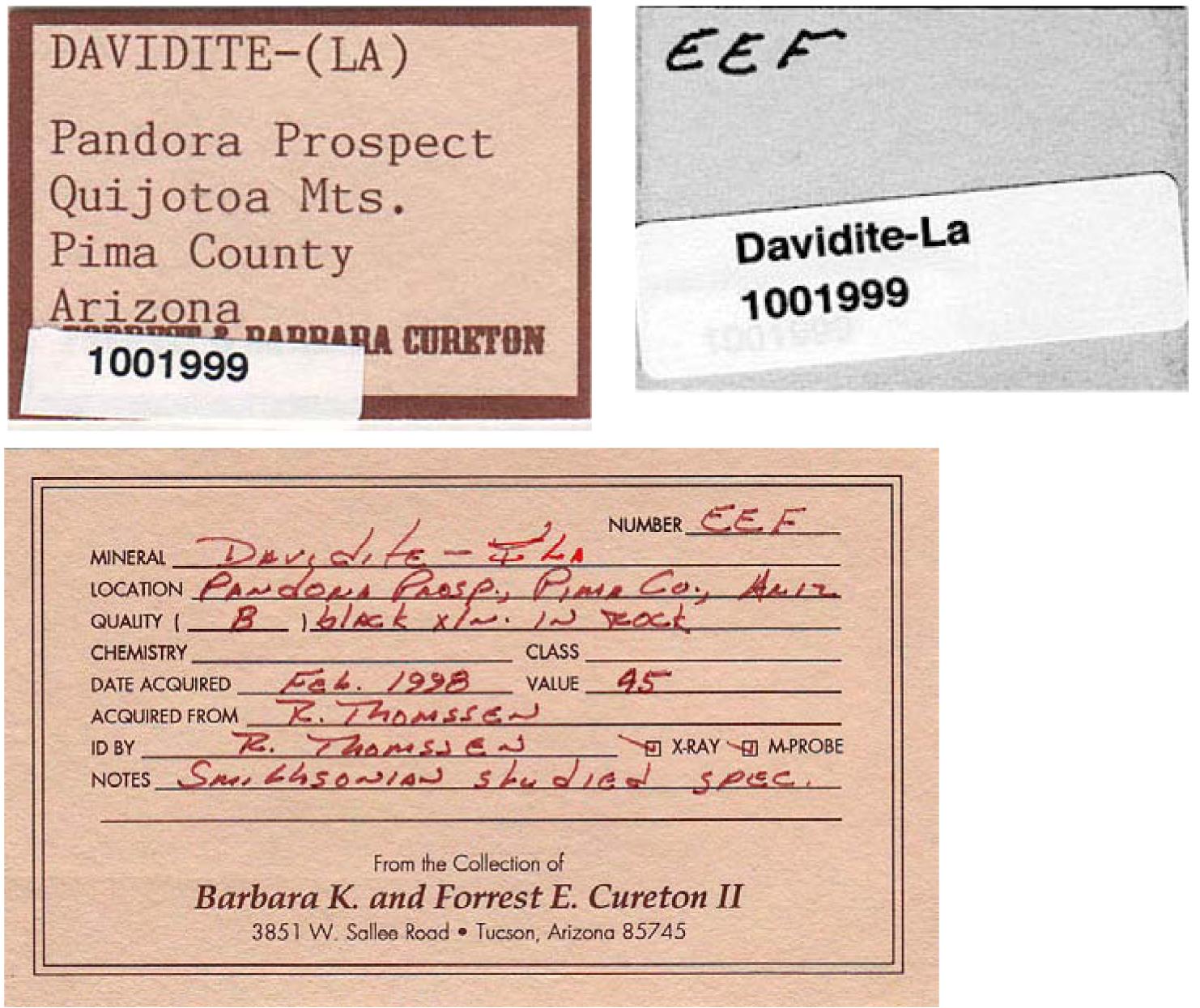 Davidite La R070698 Rruff Database Raman X Ray