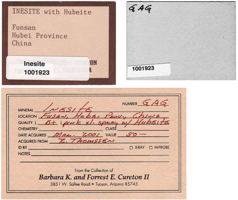 Inesite R070456 - RRUFF Database: Raman, X-ray, Infrared, and Chemistry